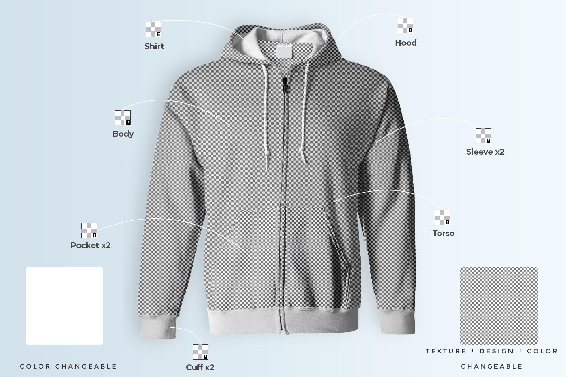 male hoodie sweatshirt mockup image preview 7